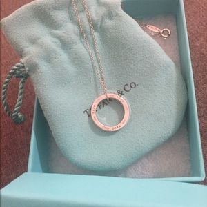 Tiffany & Co 925 Sterling circle pendant necklace